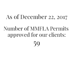 Number of MMFLA permits approved for our clients